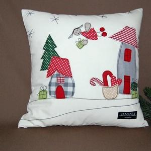 Karácsonyi párnahuzat angyallal, Otthon & Lakás, Karácsony & Mikulás, Mikulás, Varrás, Ez az egyedi, kézzel készült párnahuzat tökéletes karácsonyi hangulatot teremt, kiváló dekoráció nap..., Meska