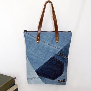 Farmer női táska - TARA, Táska & Tok, Kézitáska & válltáska, Válltáska, Ez a minőségi, újrahasznosított alapanyagokból készült táska remek társa lehet egy stílusos nőnek, e..., Meska