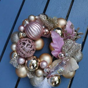 Karácsonyi adventi Ajtódísz kopogtató - Arany Avar, Karácsonyi kopogtató, Karácsony & Mikulás, Otthon & Lakás, Virágkötés, Hogyha valami Gyönyörűre, különlegesre, extrára vágysz... \nEgyedi saját készítésű koszorúm az Arany ..., Meska