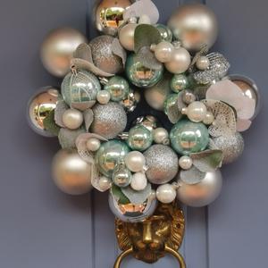 Karácsonyi adventi Ajtódísz kopogtató - Havasi Gyopár , Otthon & Lakás, Karácsony & Mikulás, Karácsonyi kopogtató, Virágkötés, Hogyha valami Gyönyörűre, különlegesre, extrára vágysz... \nEgyedi  saját készítésű koszorúm a Havasi..., Meska