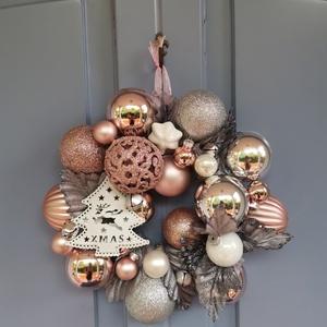 Karácsonyi adventi Ajtódísz kopogtató - Fehér karácsony , Otthon & Lakás, Karácsony & Mikulás, Karácsonyi kopogtató, Virágkötés, Hogyha valami Gyönyörűre, különlegesre, extrára vágysz... \nEgyedi saját készítésű koszorúm a Fehér k..., Meska