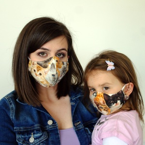 3 rétegű anya-lánya, cicás mosható pamut szájmaszk, arcmaszk, Gyerek & játék, Táska, Divat & Szépség, Baba-mama kellék, Ruha, divat, Varrás, Üdvözöllek a boltomban!   Ez a hirdetés egy felnőtt és egy gyermek méretű maszkot tartalmaz.  Gyerm..., Meska