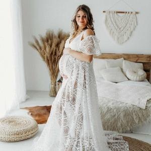 Kathleen csipke kismama ruha, Ruha & Divat, Női ruha, Kismamaruha, Varrás, Ismerd meg Kathleen csipke ruhánkat, amely gyönyörű, kidolgozott csipke anyagból készült. Elegáns ej..., Meska
