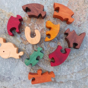 Csiga puzzle (Zelefa) - Meska.hu