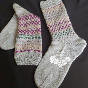 Zokni, Ruha & Divat, Cipő & Papucs, Zokni, Kötés, 100% zoknihoz való gyapjúból, mosásnál megpuhul, nem szúr. 39s méret., Meska