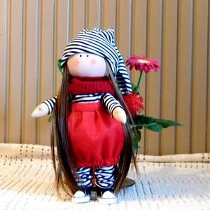 Baba, Játék & Gyerek, Baba & babaház, Baba, Baba-és bábkészítés, Varrás, A baba 32 cm magas haja fésülhető,természetes anyagok felhasználásával készült szeretettel.\n..., Meska