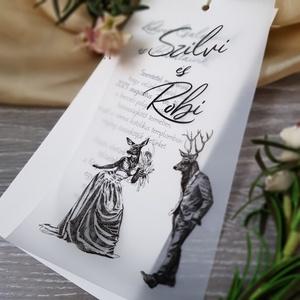 Állati esküvői meghívó :), Esküvő, Meghívó, ültetőkártya, köszönőajándék, Fotó, grafika, rajz, illusztráció, Ha valami egyedi, különleges, mégis letisztult megoldást szeretnétek az esküvői meghívótokkal kapcso..., Meska
