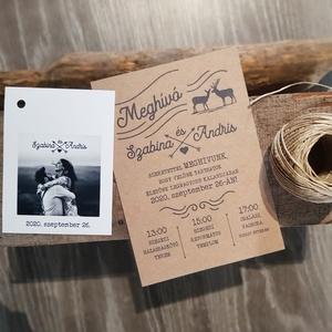 Rusztikus esküvői meghívó (A/6), (hegyvidéki és-vagy szarvas elemekkel) (zisa) - Meska.hu