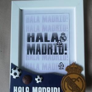 Real Madrid képkeret, Otthon & lakás, Lakberendezés, Képkeret, tükör, Férfiaknak, Focirajongóknak, Gyurma, Különleges ajándék lehet Real Madrid szurkolóknak!\n\nRendelhető más csapat címerrel és felirattal!..., Meska