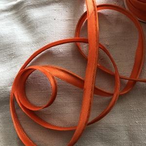 Szatén paszpól narancssárga, Csat, karika, zár, 10 mm széles szatén paszpól. Mennyiségi kedvezmény! 20 m felett - 10% Egyben az egész - 20%  , Meska