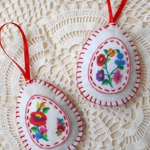 Kalocsai mintás húsvéti tojás szett (2 db) (ZoeCollection) - Meska.hu