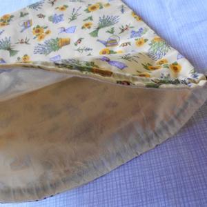 Textil péksütemény tartó tasak (napraforó-levendula) (ZoeCollection) - Meska.hu