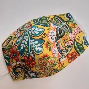"""Női szájmaszk - \""""indián nyár\"""" , Ez a szájmaszk 3 rétegű, kézzel vagy gépben 40-60 fokon mosható, kb. 18x8 cm-es.A két réteg pamutvás..., Meska"""