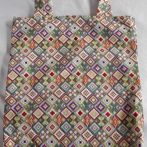 Azték mintás táska/szatyor , Táska & Tok, Bevásárlás & Shopper táska, Shopper, textiltáska, szatyor, Varrás, Stop műanyag! Használj textiltáskát a bevásárlásaidhoz! A táskát, kívül azték mintás pamutvászonból,..., Meska