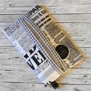 Zsepitartó (újság mintás) , Táska & Tok, Pénztárca & Más tok, Zsebkendőtartó, Varrás, Sokszor szembesülök én magam is azzal a problémával, hogy amikor hirtelen szükségem lenne papírzsebk..., Meska