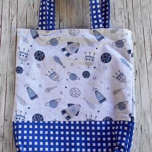 Űrhajó mintás táska/szatyor gyerekeknek, Táska & Tok, Bevásárlás & Shopper táska, Shopper, textiltáska, szatyor, Varrás, Meska
