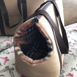 Kutyahordozó táska, Otthon & Lakás, Kisállatoknak, Kutyáknak, Varrás, Kistermetű kutyusok biztonságos szállítására készült ez a táska.\nKívül műbőr,belül wellsoft anyagból..., Meska