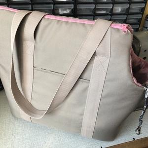 Kutyahordozó táska drapp,mályva soft béléssel - otthon & lakás - kisállatoknak - kutyáknak - Meska.hu