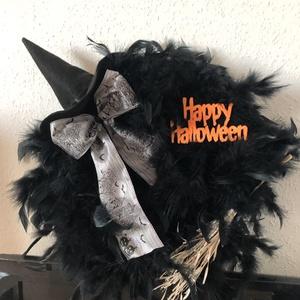 Halloween tollas  koszorú - Meska.hu