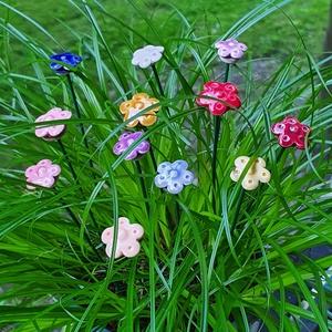 Nefelejcs (11 db), Otthon & Lakás, Dekoráció, Dísztárgy, Kerámia, Egy német legenda szerint amikor Isten már minden virágot elnevezett oda kiáltott neki egy varázslat..., Meska