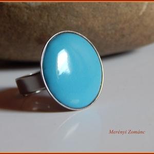 Tűzzománc gyűrű., Szoliter gyűrű, Gyűrű, Ékszer, Ékszerkészítés, Tűzzománc,   A zománc mérete22mm, nemesacél állítható foglalatban, antiallergén. A zománc pontosan illeszkedik ..., Meska