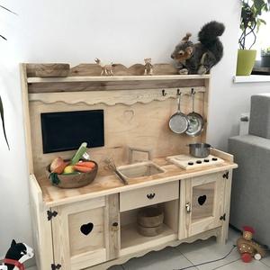 Baba konyha fából, Gyerek & játék, Gyerekszoba, Gyerekbútor, Famegmunkálás, Mint tudjátok, a fa kavicsok után terveztünk több gyerekeknek való játékot. Végre elkészült az első ..., Meska