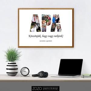 """Kollázs - Apa kép apák napja / csodás ényképes fotós egyedi személyre szabható dekoráció ajándék ötlet család szeretet, Otthon & Lakás, Dekoráció, Kép & Falikép, Fotó, grafika, rajz, illusztráció, AHOL AZ EMLÉKEID KÉZZELFOGHATÓVÁ VÁLNAK!\n\nSzeretnéd meglepni az apukádat? Ez a csodás \""""Apa Kollázs\"""" ..., Meska"""