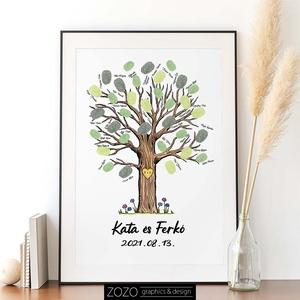 Esküvői ujjlenyomat fa