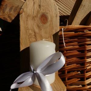 Rusztikus fali gyertyatartó fából, Gyertya & Gyertyatartó, Dekoráció, Otthon & Lakás, Famegmunkálás, Újrahasznosított alapanyagból készült termékek, Fenyő raklap, régebbi falécek felhasználásával csiszolás nélkül, a deszka eredeti jellegét megtartva..., Meska