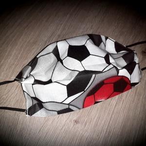 Felnőtt maszk, szájmaszk foci mintás 2 rétegű, NoWaste, Táska, Divat & Szépség, Textilek, Szépség(ápolás), Maszk, szájmaszk, Varrás, 2 rétegű, 100% minőségi pamutvászonból készült, gondosan válogatott és szívből készült maszkjaimat ..., Meska