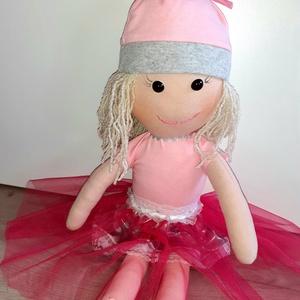 Nyuszifül rongybaba, balerina baba Húsvétra, Játék & Gyerek, Baba & babaház, Baba, Varrás, Saját tervezésű nyuszifül babám 46cm, ölelni való pajtás.\nMinőségi alapanyagokból,szívből készült,sz..., Meska