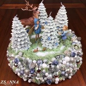 """Karácsonyi mese adventi koszorú, Adventi koszorú, Karácsony & Mikulás, Otthon & Lakás, Mindenmás, \""""A mese olyan varázslatos tükör, melyben találkozunk önmagunkkal, és meglátjuk a havas erdőnket, a k..., Meska"""