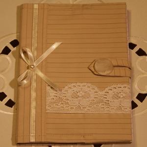 Textil füzetborító, Táska & Tok, Varrás,  Remek ajándék lehet ez a A/5-ös méretű, 80 lapos spirálfüzetre készült textilborító, melybe tetszés..., Meska