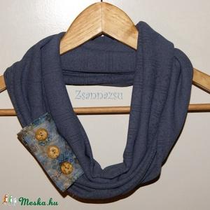 Kék, pántos csősál, Sál, Sál, Sapka, Kendő, Ruha & Divat, Varrás, Öltözködésünk fontos stíluselemei a kiegészítő ruhadarabok, mint például egy sál. Egy egyszerű össze..., Meska