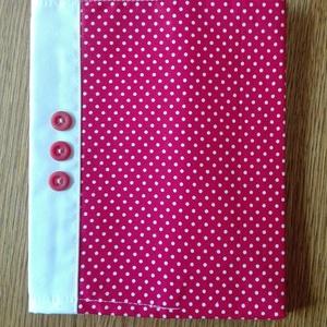 Textil füzetborító , Táska & Tok, Pénztárca & Más tok, Kártyatartó & Irattartó, Varrás, Remek ajándék lehet ez a A/5-ös méretű, 80 lapos spirálfüzetre készült textilborító, melybe tetszés ..., Meska