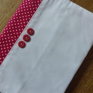textil füzetborító, Táska & Tok, Pénztárca & Más tok, Varrás, Remek ajándék lehet ez a A/5-ös méretű, 80 lapos spirálfüzetre készült textilborító, melybe tetszés ..., Meska