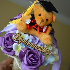 Diplomaosztóra örök csokor, Dekoráció, Otthon & lakás, Ünnepi dekoráció, Ballagás, Lakberendezés, Virágkötés, Diplomaosztóra habrózsa csokor. Más színű habrózsával is kérhető rendelés előtt kérlek érdeklődj a l..., Meska