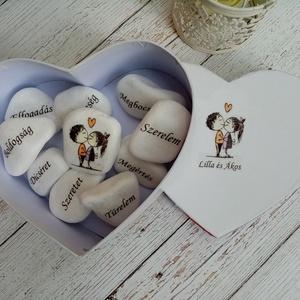 Házasság alapkovei, Nászajándék, Emlék & Ajándék, Esküvő, Decoupage, transzfer és szalvétatechnika, Szerelem jó házasság alapköve garnitúra. Frappáns ajándék az ifjú párnak. További termékeimet megtek..., Meska