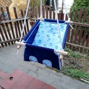 100% pamut kék macis hinta (zsebifiu) - Meska.hu