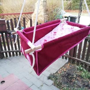 100% pamut bordó rózsaszín macis hinta (zsebifiu) - Meska.hu