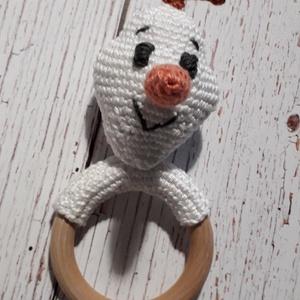 Horgolt Olafos rágóka, Játék & Gyerek, 3 éves kor alattiaknak, Rágóka, Horgolás, Szia, a nevem Olaf és szeretem, ha megölelnek!\nHorgolt játék babáknak, bababarát pamut fonallal horg..., Meska