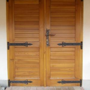 Kovácsolt ajtó vasalatok, Lakberendezés, Otthon & lakás, Fémmegmunkálás, Kovácsoltvas, Ez a termék már egy kedves ismerős pince ajtaját díszíti. \nHa te is szeretnél hasonlót, kérlek írj!\n..., Meska