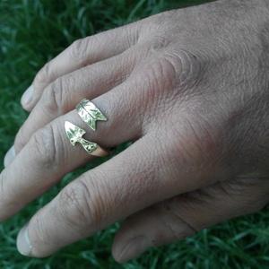 Nyílvessző gyűrű, Kerek gyűrű, Gyűrű, Ékszer, Fémmegmunkálás, Kovácsoltvas, Sárgarézből készült egyedi tervezésű és mintázatú gyűrű. Igazán különleges darab! Mérete: 3 mm vasta..., Meska