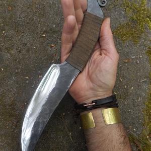 """""""Sárkányfog"""", Férfiaknak, Hagyományőrző ajándékok, Horgászat, vadászat, Rugóacélból kovácsolt kés. Éltípus: konvex. Penge hossza: 170 mm, penge vastagsága: 6 mm, penge szél..., Meska"""