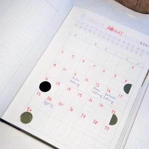 Holdfázis matricák, holdnaptár, nagy (2,5 cm) (zsiemankaje) - Meska.hu