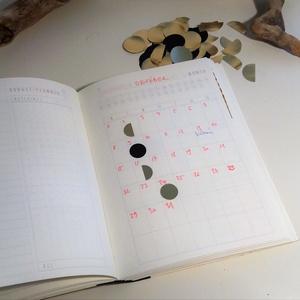 Holdfázis matricák, holdnaptár, kicsi (1,5 cm) (zsiemankaje) - Meska.hu
