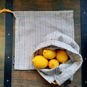 Vászonzsák csomag, Zöldség/Gyümölcs zsák, Bevásárlás & Shopper táska, Táska & Tok, Varrás, Pamut vászon textil zsákok bevásárláshoz. Műanyag zacskó helyett.\nMérete :\n29*28 cm\n28*26 cm. \n\n..., Meska