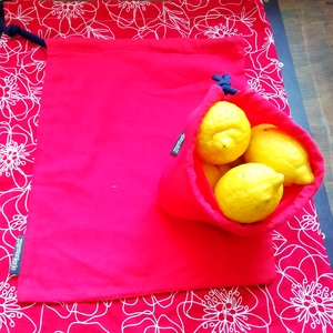 Vászonzsák csomag, Zöldség/Gyümölcs zsák, Bevásárlás & Shopper táska, Táska & Tok, Varrás, Pamut puplin textil zsákok bevásárláshoz. Műanyag zacskó helyett. Zsinórral. \nMérete :\n38*45 cm\n26*3..., Meska
