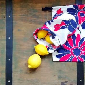 Vászonzsák csomag, Zöldség/Gyümölcs zsák, Bevásárlás & Shopper táska, Táska & Tok, Varrás, Len vászon textil zsákok bevásárláshoz. Műanyag zacskó helyett. Zsinórral. \nMérete :\n18*30 cm\n18*29 ..., Meska