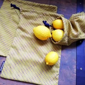 Vászonzsák csomag, Zöldség/Gyümölcs zsák, Bevásárlás & Shopper táska, Táska & Tok, Varrás, Vékony pamut vászon textil zsákok bevásárláshoz. Műanyag zacskó helyett. Zsinórral. \nMérete :\n27*31 ..., Meska